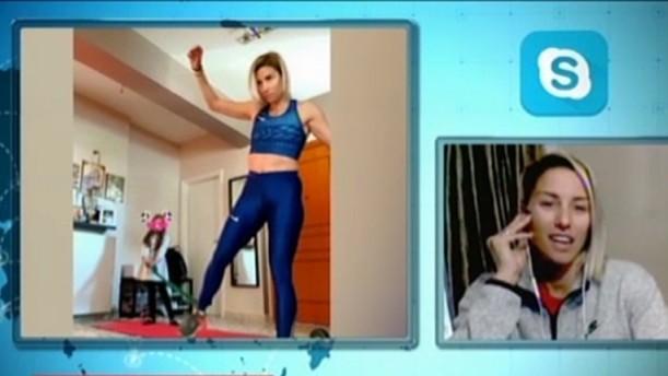 Η Βούλα Παπαχρήστου στον ΑΝΤ1 για την προπόνηση κατ΄ οίκον και τους Ολυμπιακούς Αγώνες (βίντεο)