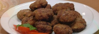 MEATSBALLS COMBINED WITH OUZO FROM CHIOS